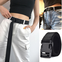 HATCYGGO Belts For Women Nylon Waist/lLong Belt Unisex Canvas Female Plastic Buckle Ladies Jeans Waistband