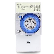 SUL181H Mechanical Timer Switch 220V 16A 24H 8 Settings Manual/Auto Controller