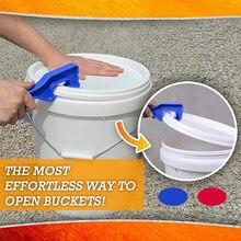Abs balde de plástico pintura barril tampa lata abridor abertura casa ferramentas mão escritório em casa alta qualidade acessórios 20july13