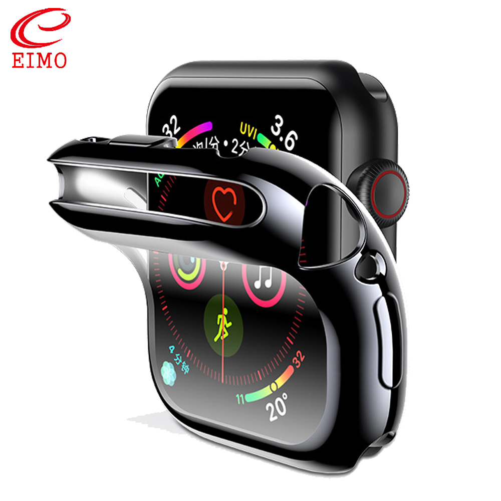Protector case for <font><b>apple</b></font> <font><b>watch</b></font> 5 4 <font><b>3</b></font> iwatch band 44mm 40mm 42mm <font><b>38</b></font> Screen Cover silicone soft All-around Ultra-thin Clear frame image