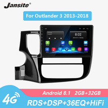 Jansite DSP RDS 10 Car Radio For Mitsubishi Outlander 3 2013-2018 Touch screen Android 8.1 4G Wifi Multimedia player with Frame