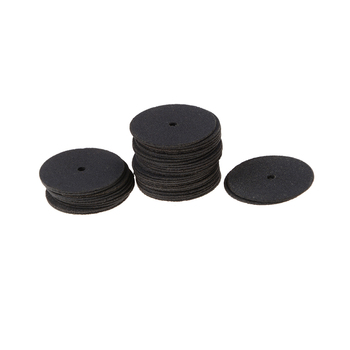 New 36 Discs Rotary Tool Cut Off Wheels Disc 24.5mm Reinforced with 1 Tube for Rotary Tools Black фото