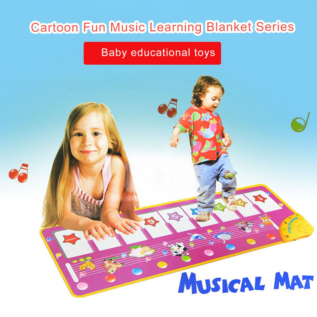 Children'S Music Carpet Game Carpet Flash Piano Blanket Purple Piano Mat Pedal Dance Blanket Toy Professional