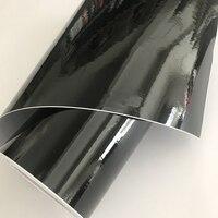 50cmx20 0/300/500cm 블랙 광택 비닐 필름 피아노 블랙 광택 자동차 랩 접착제 공기 방울 무료 자동차 포장 스티커