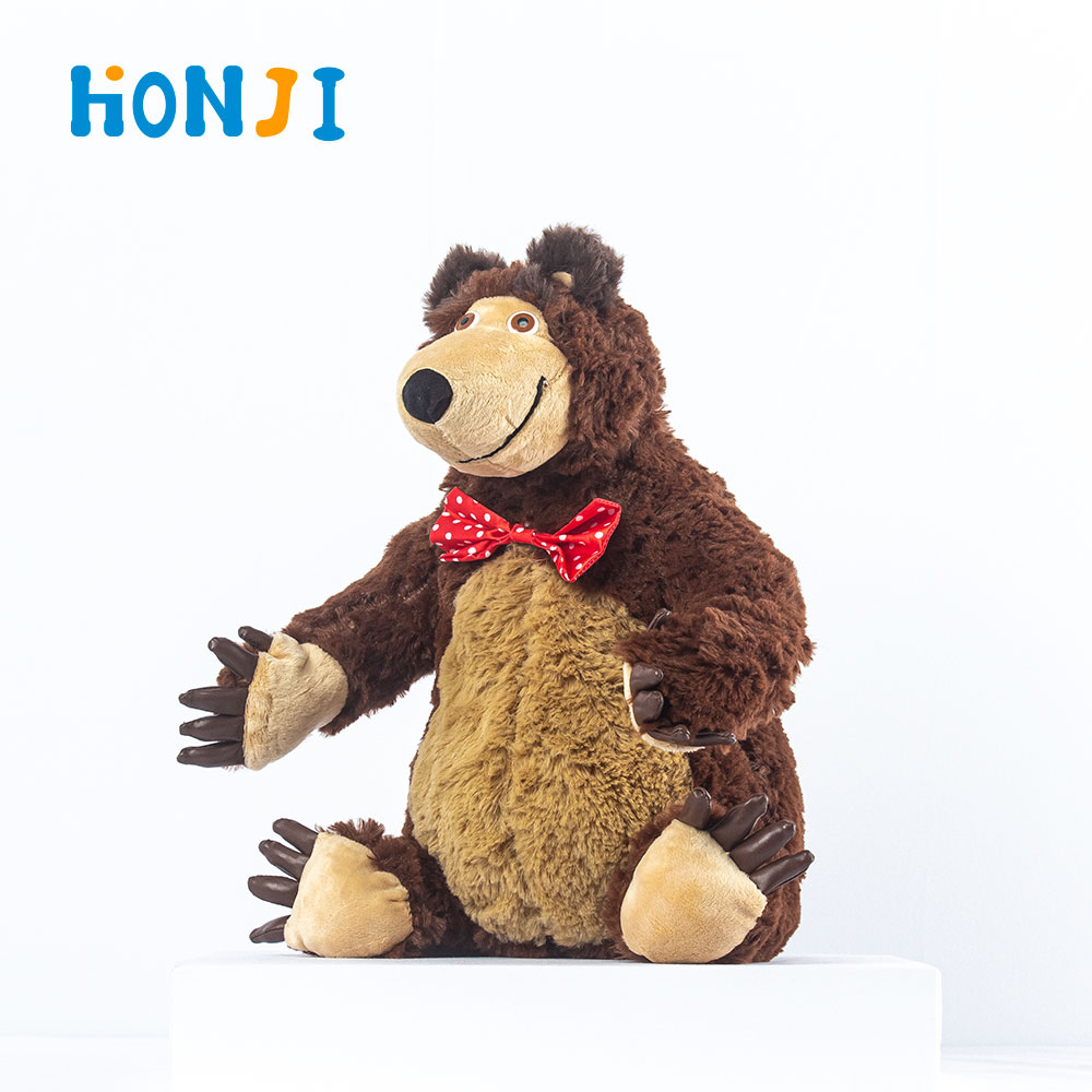 HONJI 2020 New Popular Russian Masha and Bear Stuffed Toys Soft 32cm Animal Plush Doll For Children Best Gift