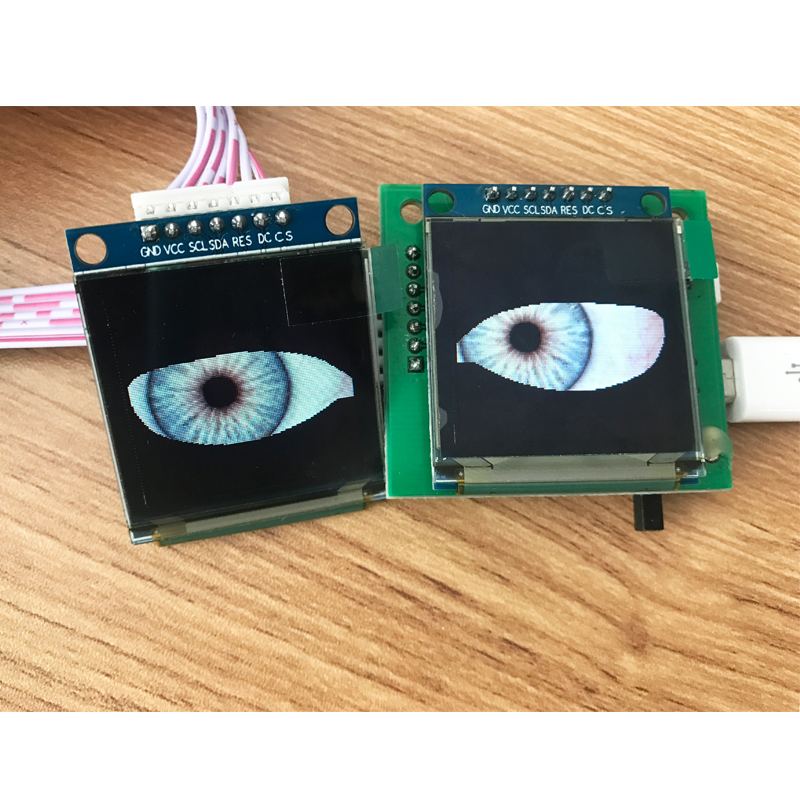 Uncanny Animated Eyes OLED Display Toy Models Halloween Skull Costume Available ESP32 Control Module For Arduino Development