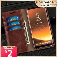 Роскошный деловой чехол Musubo для S10e + S8, чехол книжка натуральной кожи чехол samsung Galaxy Note 10, 9, 8, кошелек S9 Plus, S7 Edge samsung S10 чехол samsung S10+ чехол