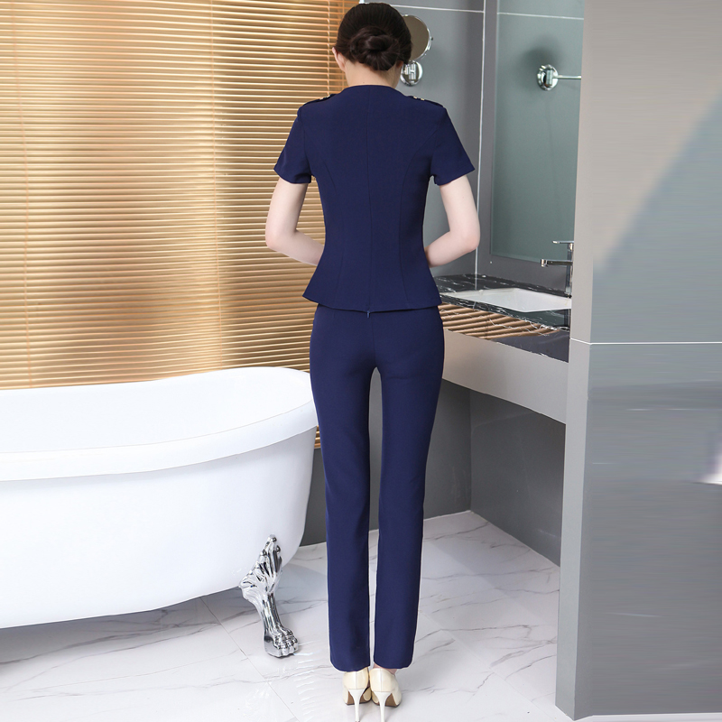 Slim Beautician Workwear Sexy Female Spa Health Club Elastic Technician Foot Massage Uniforms