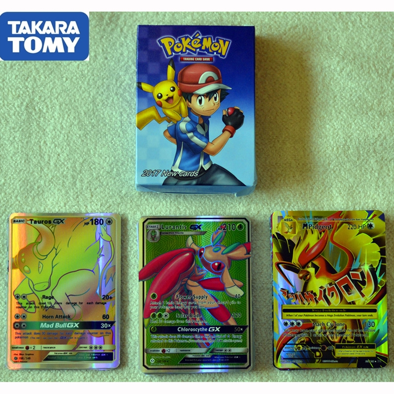 60pcs/box Pokemon Card Sun & Moon GX MEGA Trading Flash Cards Game Collection Kids Toys