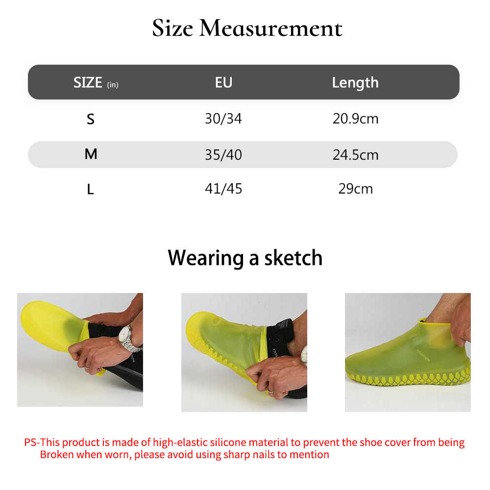 Водонепроницаемые Многоразовые силиконовые чехлы для обуви унисекс защита от дождя сапоги для дома на открытом воздухе дождливые дни
