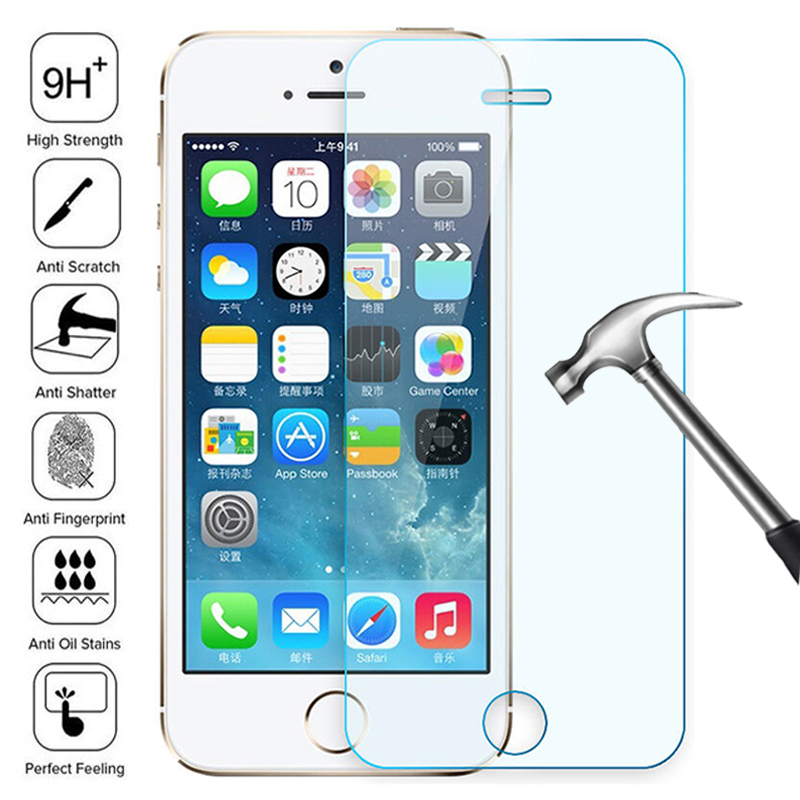 100D Transparent Tempered Glass For iPhone 7 8 6 6S Plus Glass Screen Protector On iPhone 5 5C 5S SE 2020 Glass Protective Film 1