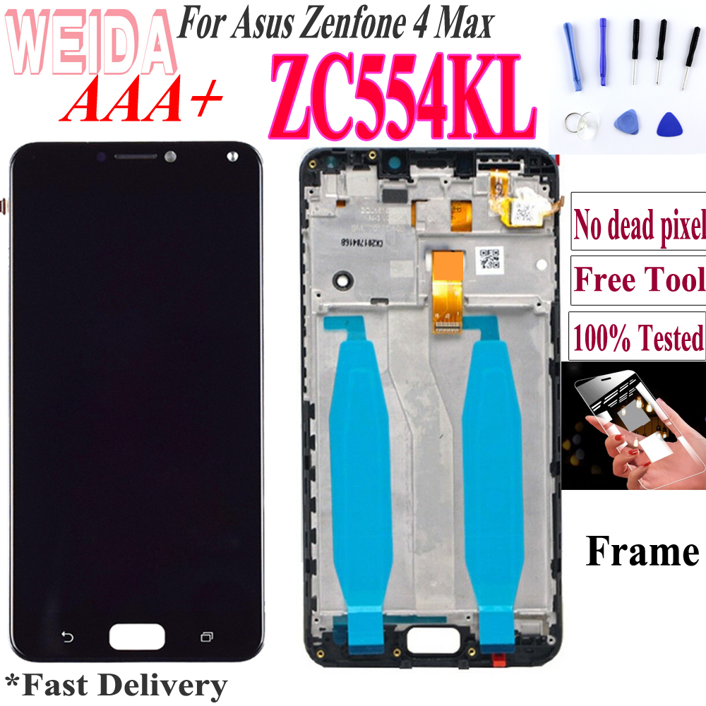 Original 5.5'' For Asus Zenfone 4 Max ZC554KL LCD Touch Screen Digitizer Replacement Parts For ZenFone 4 Max LCD ZC554KL X001D