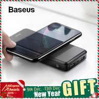 Baseus 10000mAh Caricatore Senza Fili Qi Accumulatori e caricabatterie di riserva Per il iPhone 11 Pro Max Samsung Huawei Powerbank Dual USB di Ricarica Della Batteria Esterna
