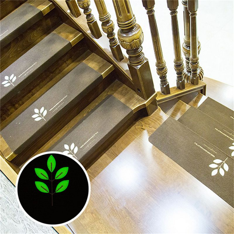 Brown Durable Luminous Home Vision Stair Pad Non-slip Step Mat Embroidery Stair Mats Glue Self-adhesive Luminous Floor Stickers