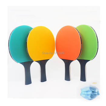 table tennis pingpong Colorful Wholesale Price Table Tennis Racket With Black Wood image