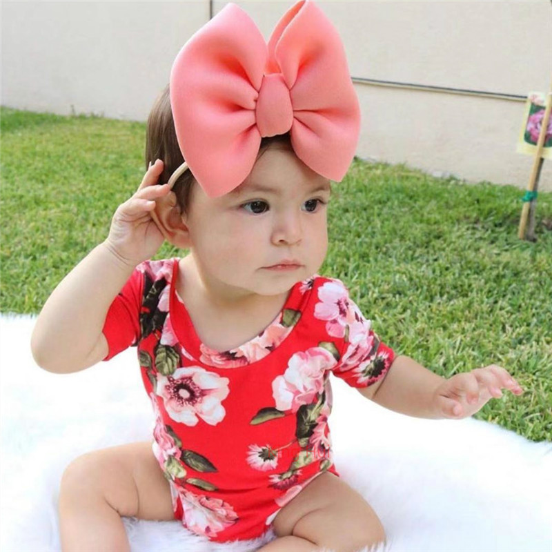 Baby Headband Bow Bandeau Bebe Fille Baby Girl Headbands Newborn Baby Hair Accessory Baby Nylon Headband Opaska Dla Dziewczynki
