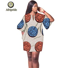 2019 african dresses for women fashion design new bazin embroidery dress mini plus size AFRIPRIDE S1925041