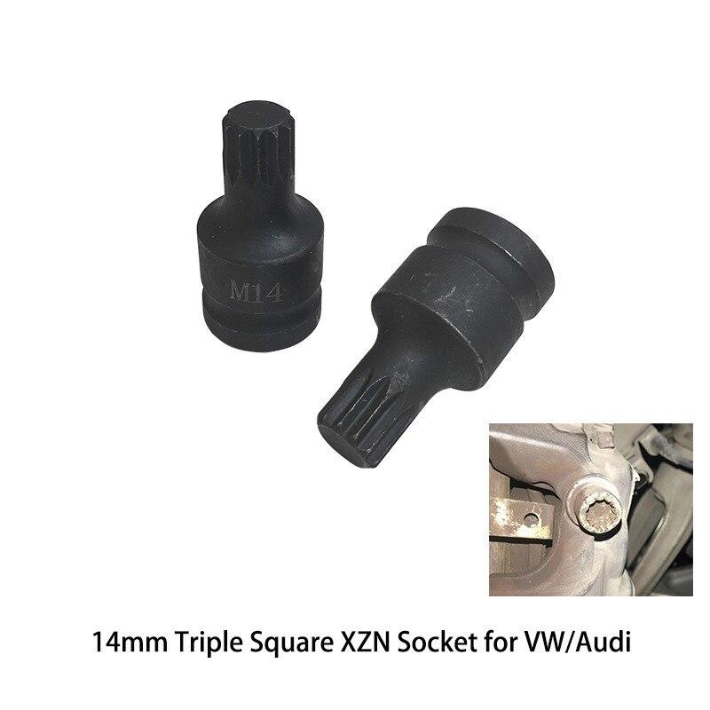 1pcs Car Brake Pad Screw Disassembly Tool M14 Triple Square XZN Socket For Mk5 Mk6 Mk7 For VW Audi