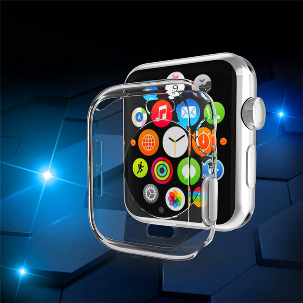 Transparent Cover for apple watch 4 44mm 40mm 360 Full Clear soft TPU Ultra Thin Protector Case for iWatch 4 44/40mm accessories