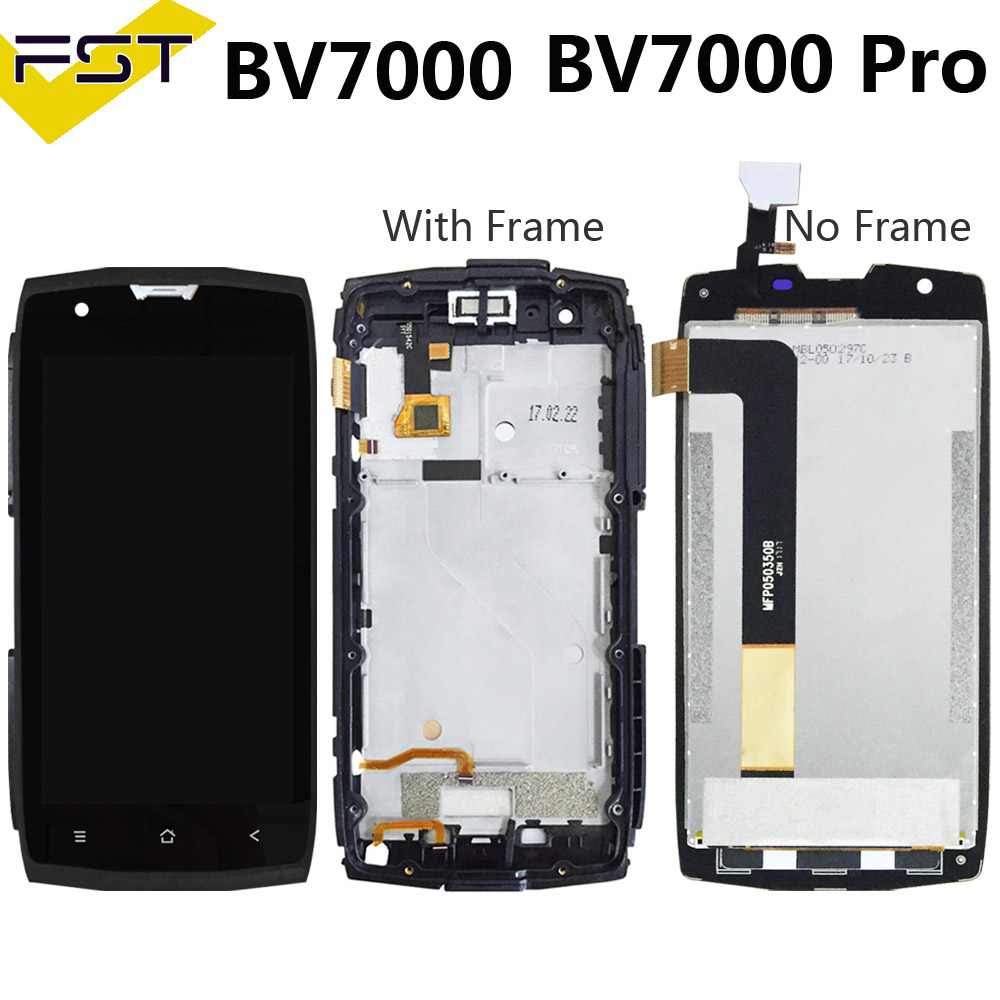 100% Tested Display Lcd With Touch Screen For Blackview BV7000/BV7000 Pro Lcd With Frame Assembly Replacement