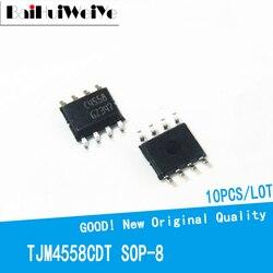 10 шт./лот TJM4558 C4558 SOP8 TJM4558CDT NJM4558CG лапками углублением SOP-8 SMD новый оригинальный IC усилитель Чипсет хорошего качества