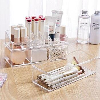 Combinable Transparent Makeup Organizer Storage Box Acrylic Make Up Organizer Cosmetic Organizer Makeup Storage Drawers Organize фото