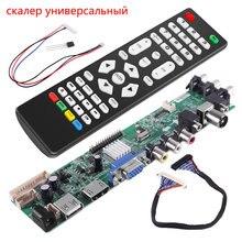 العالمي قشارة عدة 3663 التلفزيون تحكم لوحة للقيادة الرقمية إشارة DVB C DVB T2 dvb t لوحة تحكم شاملة في التلفزيون الإل سي دي ترقية 3463A