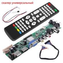 universal scaler kit 3663 TV Controller Driver Board Digital Signal DVB C DVB T2 DVB T Universal LCD UPGRADE 3463A