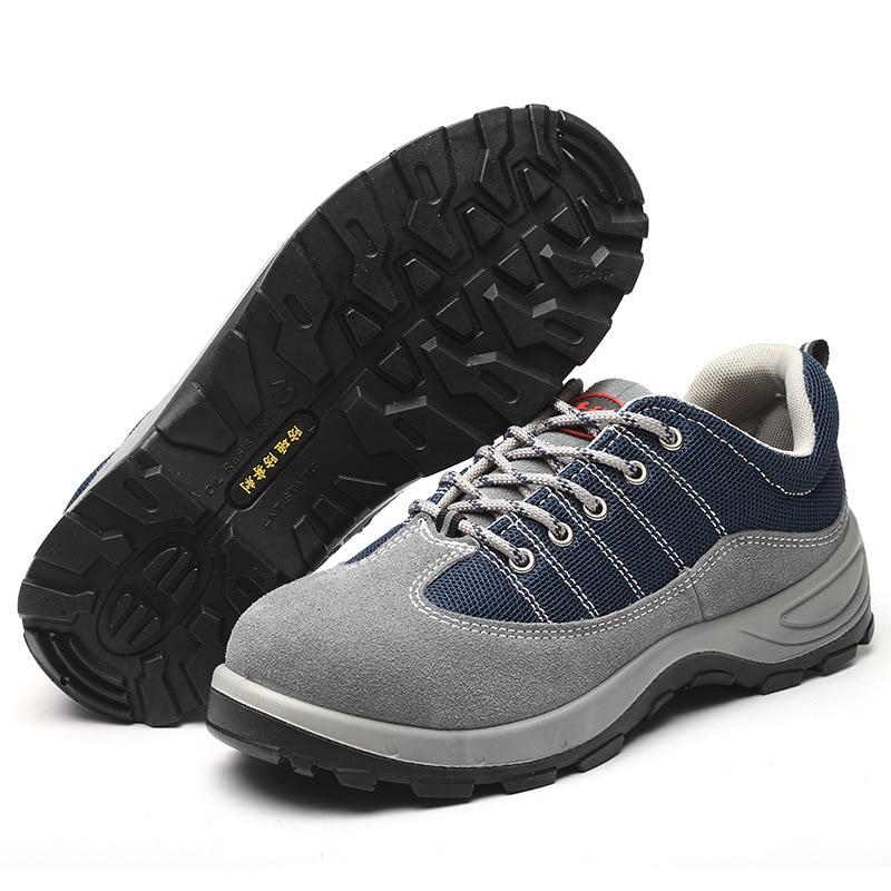 FANAN 2020 nouvelles chaussures de sécurité pour hommes en acier orteil anti-crevaison Ultra-léger fond souple léger chaussures de protection livraison gratuite