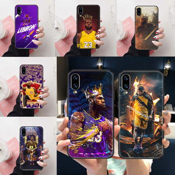 Basketball King 23 James Phone case For Huawei Honor View 6 7 8 9 10 10i 20 A C X Lite Pro Play black soft shell silicone bumper image