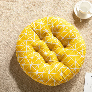 Plaid Geometric Cushion Round