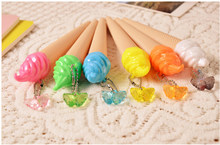 1Pc Ice Cream Ontwerp Gel Pen Met Hanger 0.38 Mm Mode Stijl Pen(China)