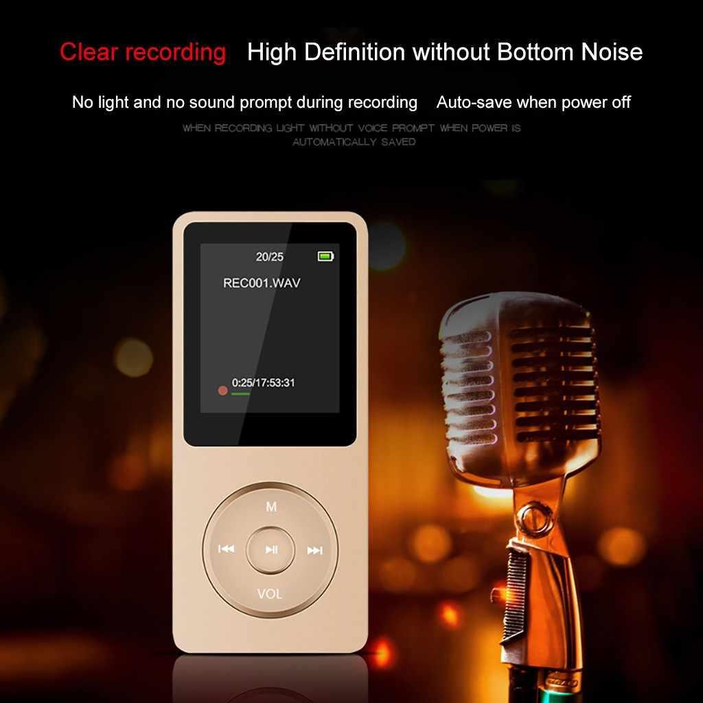 محمول MP4 ضياع الصوت مشغل موسيقى تشغيل صغير FM مسجل TF بطاقة 80 ساعة تشغيل الموسيقى والفيديو زر MP4 # G1