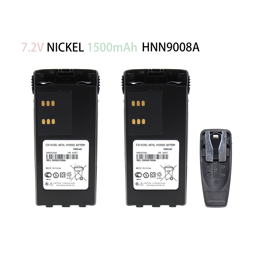2X HNN9008A Replacement Battery For Motorola GP340, GP380, HT750, HT1250, GP360