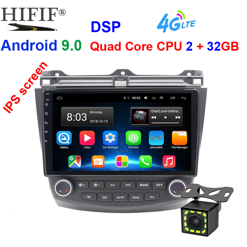 10,1 zoll IPS DSP Android 9.1 RAM 2GB ROM 32GB 2din auto-Radio-Player GPS Navigation Für <font><b>2003</b></font> 2004 2005 2006 <font><b>2007</b></font> <font><b>Honda</b></font> <font><b>Accord</b></font> 7 image