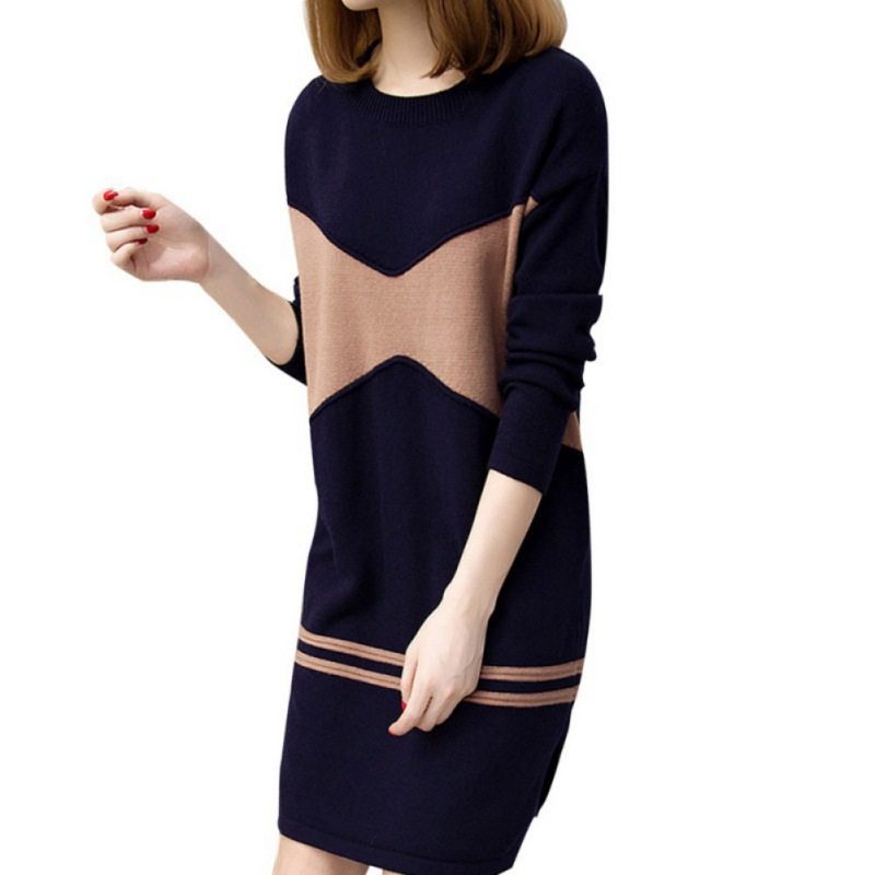 Slim Pencil Warm Casual Dress Sexy Winter Women Dresses Warm Sweater Soft Long Sleeve Split Knitted Autumn Dress