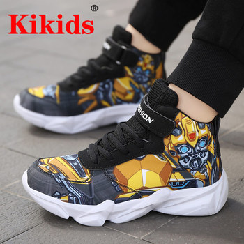 Kikids 2020 Kids Casuals Shoes For Boys Basketball Shoe Running Kid Casual Children Robot Sports Boot Sneakers Cartoon Kid Shoes