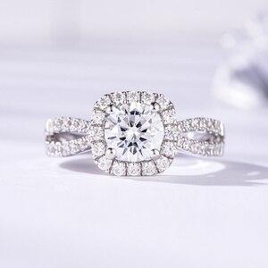 Image 2 - Kuololit 100% Handgemaakte Ring 10K Wit Goud Moissanite Ringen Voor Vrouwen Lab Groei Diamanten Bruiloft Bruid Partij Ringen Fijne sieraden
