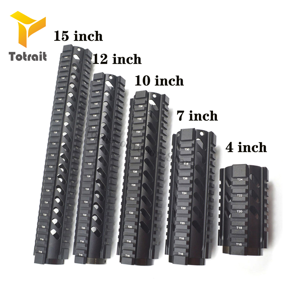 TOtrait Tactical 4,7,10,12,<font><b>15</b></font> inch Free Float Quad Rail <font><b>Handguard</b></font> .223/5.56 Picatinny Rail System for <font><b>AR</b></font>-<font><b>15</b></font> M16 M4 <font><b>Handguard</b></font> image