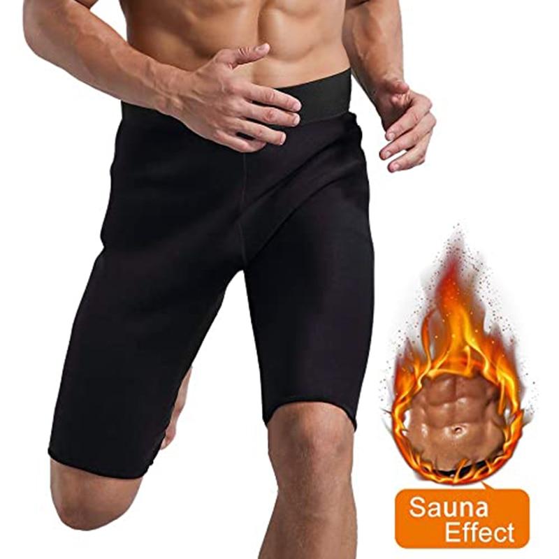 Men Sweat Sauna Pants Thermo Slimming Thigh Shaper Tummy Control Shorts High Waist Slimming Underwear Neoprene Body Shaper Sport