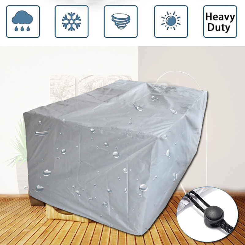 Outdoor Garden Furniture Cover Rattan Tables And Chairs, Sofa Waterproof Cover, Outdoor Terrace Protection Cover, Rain And Snow