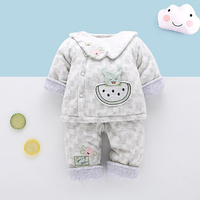 Baby Clothing Infant Newborn Winter 2pcs/set Baby Suit Clothing Thick Section Gift Christmas New Years YYY013