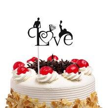 20pcs/lot Love Heart Cake Flag Bridal Toppers Multi Colors Wedding Engagement Party Decoration Wholesale Supplies DIY