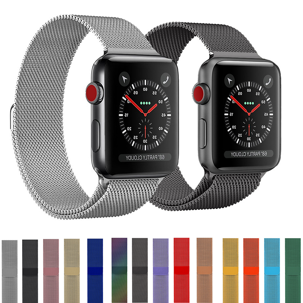 Watchband For Apple Watch Band Milanese Loop Strap 42 38mm For Iwatch5/4/3/2/1 44 40mm Stainless Steel Link Bracelet Accessories