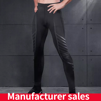 Leggings Men Sweatpants Compression-Shirt Football Gym Training Fitness Elastic Slim