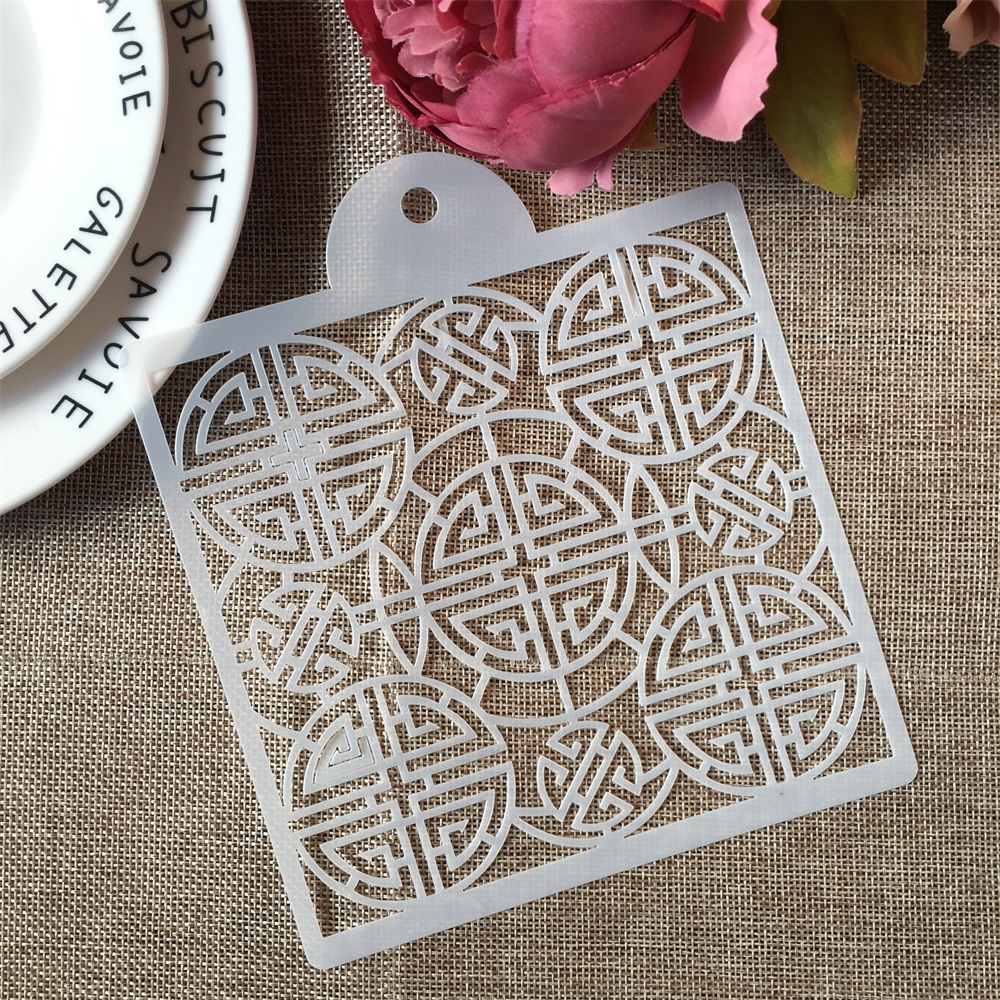 1PCs 15*17.5cm Chinese Happiness DIY Craft Layering Stencils Painting Scrapbooking Stamping Embossing Album Paper Card Template