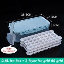 Лотки для льда кремния дно кубика льда контейнер для хранения с крышкой BPA бесплатно льда пресс-форм для холодных напитков Барные аксессуар...