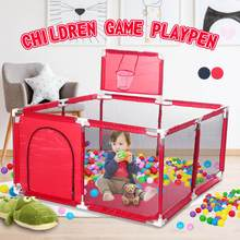 Children Cloth Playpen With Basketball Stands Baby Game Tent