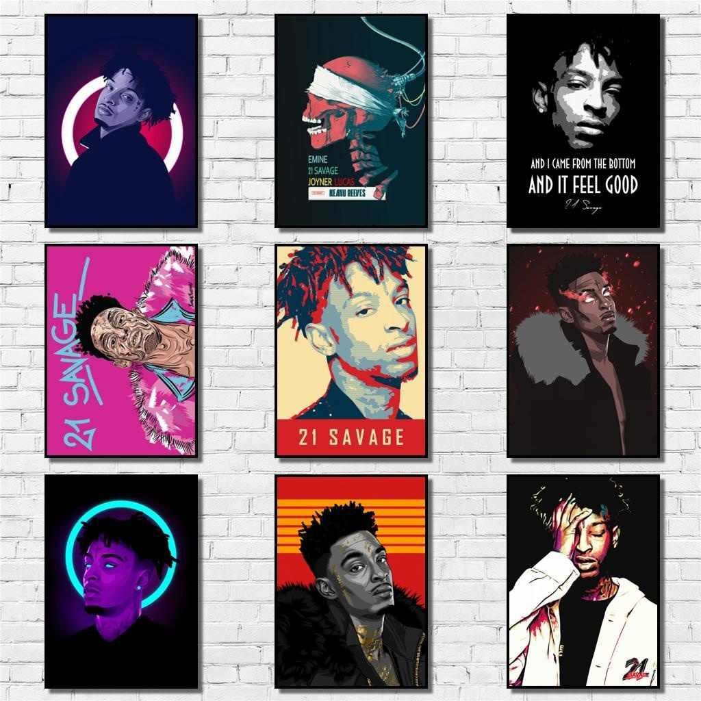 21 savage whitepaper poster rapper malerei abstrakte lustige phantasie wand aufkleber fur kaffee haus bar