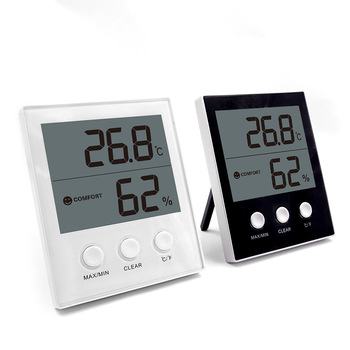 Smart Indoor Outdoor Digital Alarm Clock Thermometer Hygrometer multi function alarm clock thermometer hygrometer 1 x aa